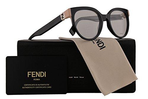 Fendi FF0131 Eyeglasses 49-19-135 Shiny Black w/Demo Clear Lens 29A FF - Frame Fendi