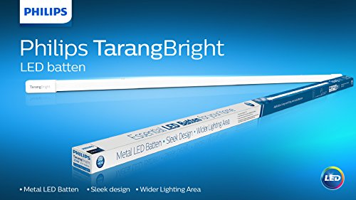 Philips Tarang Bright 20-Watt LED Batten (Pack of 2, Cool Day Light,  Rectangle)