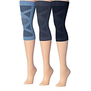 Ronnox 3-Pairs Knee Compression Sleeve Support for Men & Women, CP04-A