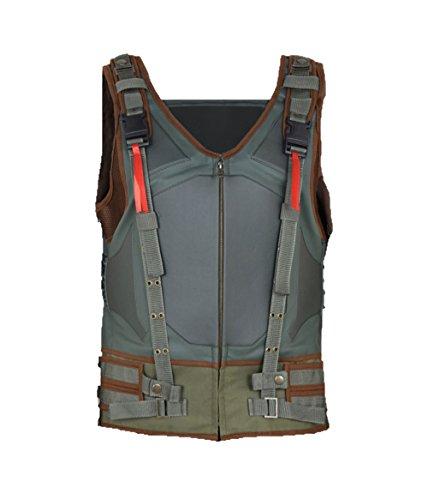 MSHC Men's Dark Knight Bane Faux Leather Vest Jacket 5XL Multi Color (The Dark Knight Returns Costume)