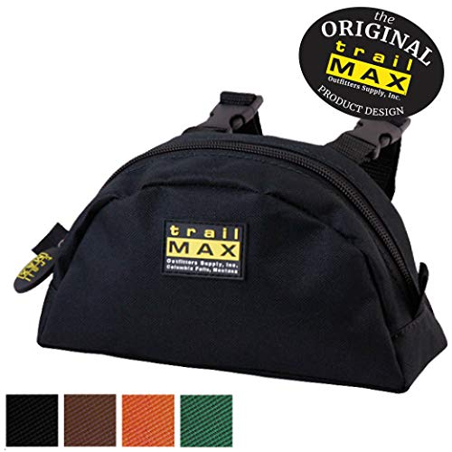 TrailMax Original Pommel Pocket Saddle Bag for Western or Endurance Saddle, 600D Polyester with a PVC Coating for Water Resistance, Durability & UV Protection, Black