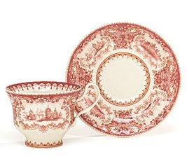 Amazon Com Set Of 2 Elegant Red Toile Porcelain Teacups And Saucer  sc 1 st  tagranks.com & Amazing Red Toile Dinnerware Photos - Best Image Engine - tagranks.com