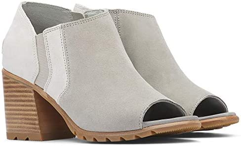Sorel - Women's Nadia Ankle Bootie, Leather Open-Toe Ankle Boot with Block Heel