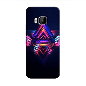 Cover It Up - Abstract Red&Blue One M9 Hard Case