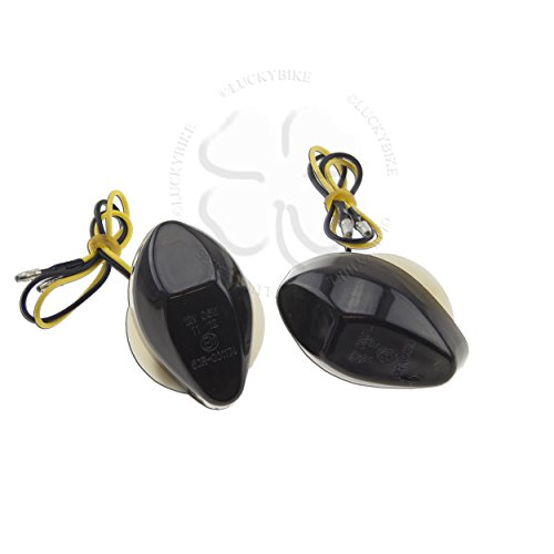 Smoke Flush Mount LED Turn Signals Honda 03-09 CBR 600RR, 04-09 1000RR, 99-00 600 F4, 01-09 600 (Signals Cbr)