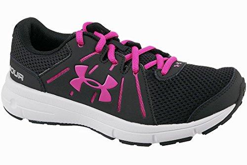 Under Armour Women's UA Dash RN 2 Black/Glacier Gray/Tropic Pink Athletic Shoe