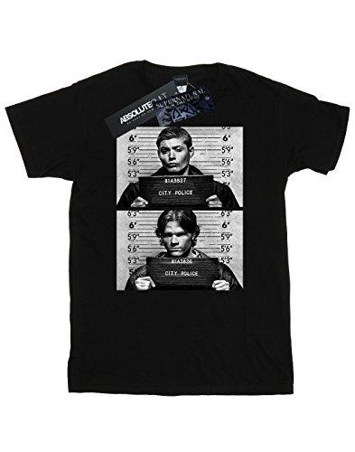 Supernatural Mujer Mugshots Fit Novio Camiseta Winchester Negro Del rrHqdp