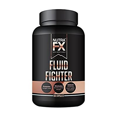 NUTRAFX Water Weight Loss Pills – Powerful Potassium Citrate Formula (297 mg) – NON-GMO Herbal Diuretic Anti Water Retention Pills – 180 Capsules Fluid Fighter