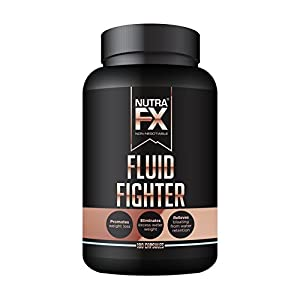 NUTRAFX Water Weight Loss Pills – Powerful Potassium Citrate Formula (297 mg) – NON GMO Herbal Diuretic Anti Water Retention Pills – 180 Capsules Fluid Fighter