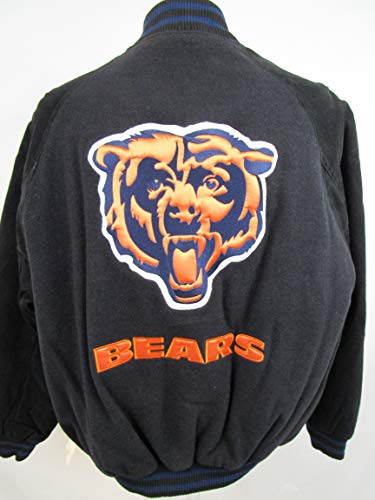 G-III Sports Chicago Bears Mens Size Medium Wool Blend with Suede/Soft Leather Sleeves ABEA 166 M