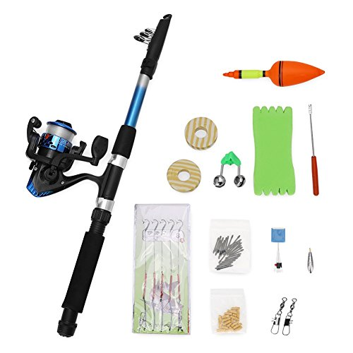 Telescopic Fishing Rod and Reel Combos kit for Beginners