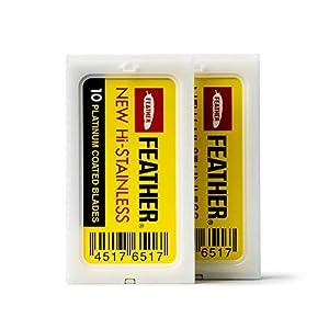 Bombay Shaving Company Feather Razor Blades, Platinum Coated (Pack of 20)