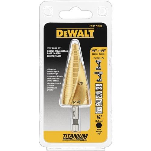 DEWALT Step Drill Bit Set, 7/8-Inch to 1-1/8-Inch (DWA1789IR) by DEWALT