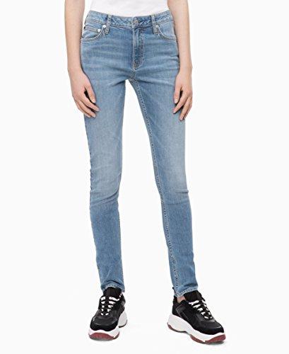 Calvin Klein Women's Mid Rise Slim Fit Jeans, Hamptons blue light, 28X32