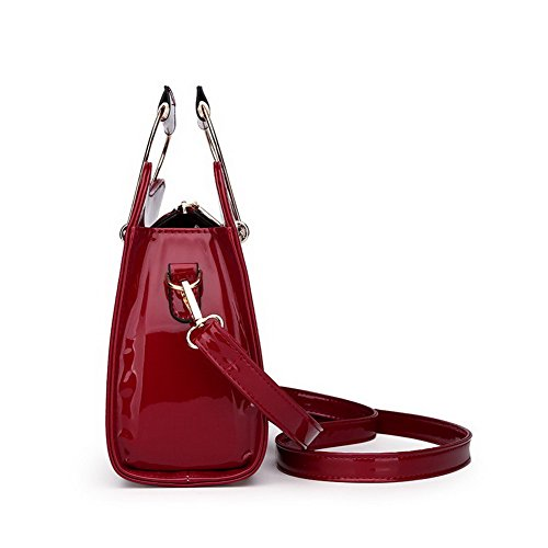 cruzados Bolsos Mujeres CCAYBP181222 VogueZone009 Bolsas Moda de Pu Tachonado Beige Casual Rojo hombro qEt1wwvd