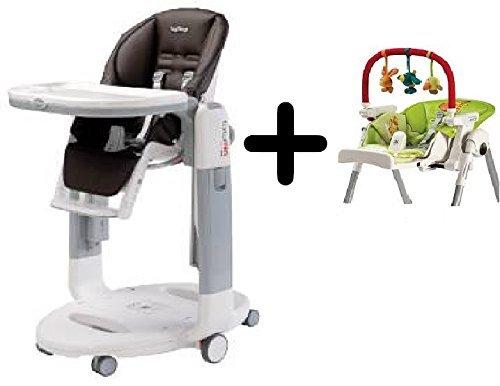 UPC 352360257908, Peg-Perego Tatamia High Chair, Cacao + Peg Perego High Chair Play Bar