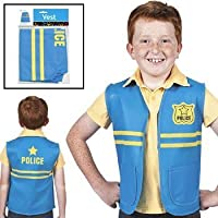 Fun Express Kids One Size Non-Woven Costume Police Vest