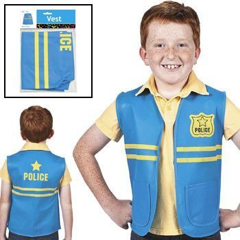 Fun Express Kids One Size Non-Woven Costume Police -