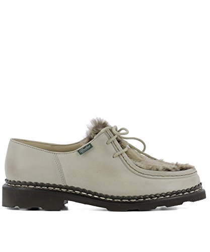 Shoes Lace Leather 130471BEIGE PARABOOT Women's up Beige q7FP6v