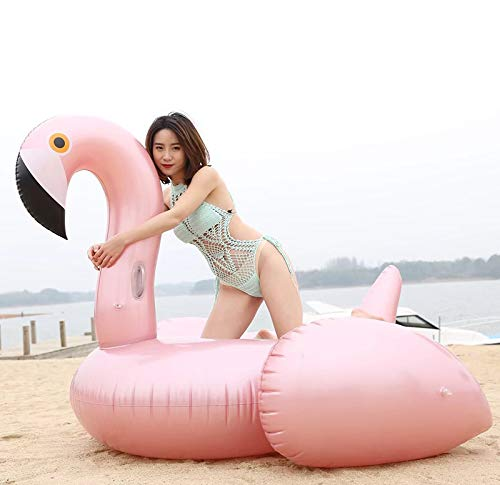 WYL Giant Inflatable Flamingo Floating Row Adults Kids Summer Beach Toy Swimming Pool Party Lounge Raft-Rosegold by WYL (Image #7)