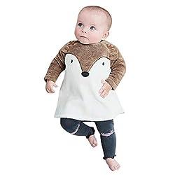 Drindf Boys Clothing Newborn Baby Girls Boy Flannel Romper Outfit Cartoon Sweatshirt Winter Warm Infant Coat (6-12 Months, Brown)
