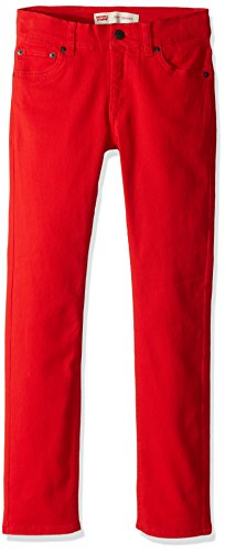 Levi's Boys' Big 510 Skinny Fit Jeans, Chinese red, 14
