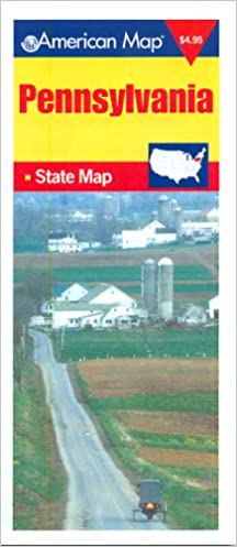 American Map Pennsylvania State Map: American Map Corp