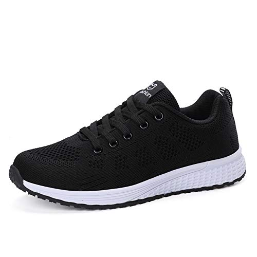 Mesh 1 Sports Gym Femmes Baskets Running Respirante De Chaussure Sneaker Ali Lacets Fitness amp;boy Noir 0pqwff