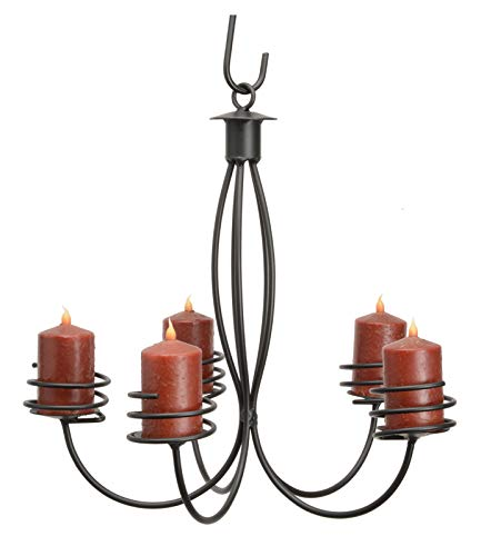 Wrought Iron 5 Arm Candle Chandelier