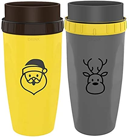 yangGradel French Coverless Twist Cup Tumbler Straw Sippy Water Bottles Portable for Children Adults