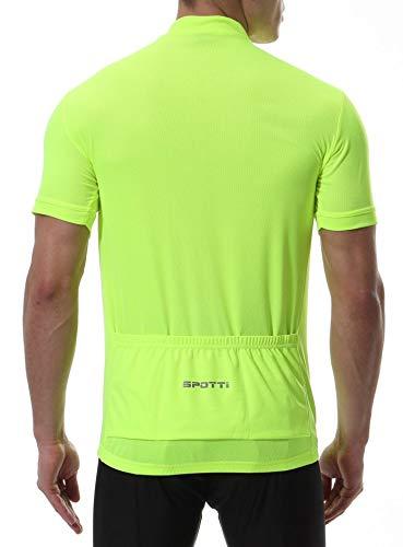 Spotti Men s Basic Short Sleeve Cycling Jersey - Bike Biking Shirt (Yellow 5a7b1d393