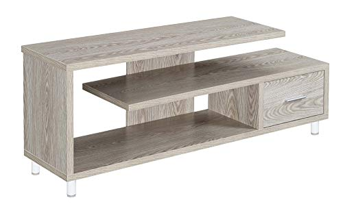 Convenience Concepts Seal II 60 TV Stand, Ice White