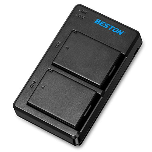 BESTON 2-Pack LP-E10 Battery Pack and USB Dual Charger Kit for Canon EOS Rebel T3, T5, T6, T7, Kiss x50, Kiss x70, EOS 1100D, EOS 1200D, EOS 1300D Camera and More