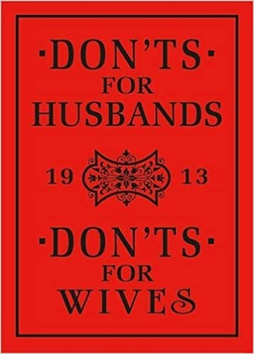 Don'ts for Husbands and Don'ts for Wives: Amazon com: Books