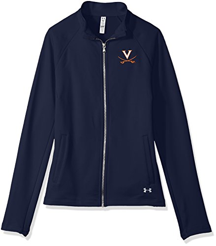 (Under Armour NCAA Virginia Cavaliers Women's Terry Full-Zip Jacket, Large,)