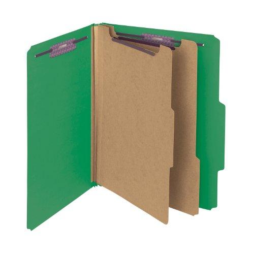 Smead PressGuard Classification Folder with SafeSHIELD Fasteners, 2 Dividers, 2