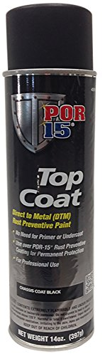 POR-15 45918 Chassis Black Top Coat - 14 fl. oz. (Por 15 Rust Paint)