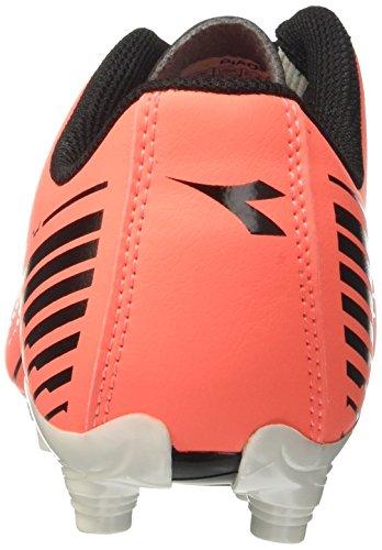 Diadora 7fifty Mg14, para los Zapatos de Entrenamiento de Fútbol para Hombre Rojo (Rosso Fluo/nero)