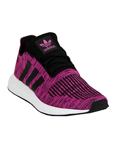 - adidas Originals Kids Girl's Swift Run J (Big Kid) Shock Pink/White/Black 5.5 M US Big Kid