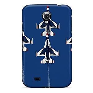 Awesome Af-16 Fighting Falcon Planes Flip Case With Fashion Design For Galaxy S4