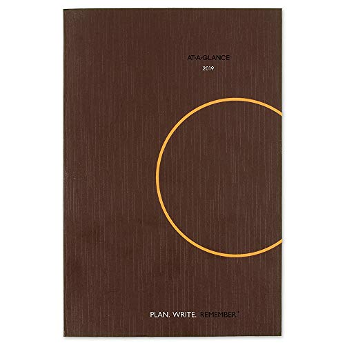 "AT-A-GLANCE 2019 Daily Planning Notebook, Plan.Write.Remember., 6"" x 9"", Medium, Brown (70620130)"