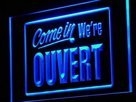 ADVPRO Cartel Luminoso j149-b Ouvert Come In Were Open Neon ...