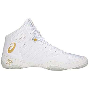 new concept 7cbcb 6213c ASICS JB Elite III Unisex Wrestling Shoe, White Rich Gold, 10 M US