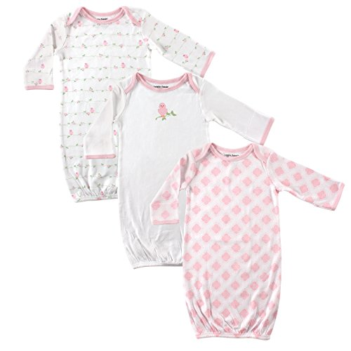 luvable-friends-unisex-3-pack-cotton-gown-pink-bird-0-6-months