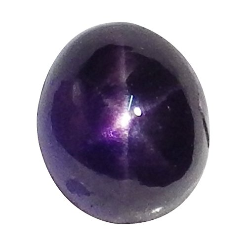 thaigeneration 1.36 Ct. Unheated Natural Oval Cabochon Purple Blue Star Sapphire Loose Gemstone