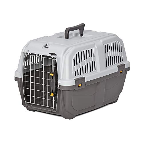 Midwest Skudo Plastic Travel Carrier for Dogs, 21.5″ L X 14″ W X 13.75″ H, X-Small, Gray