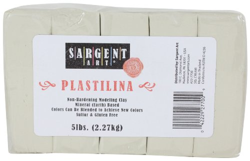 Sargent Art Plastilina Modeling Clay, 5-Pound, Cream