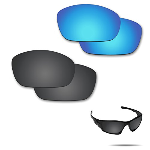 Fiskr Anti-Saltwater Polarized Replacement Lenses for Oakley Ten X Sunglasses 2 Pairs Packed