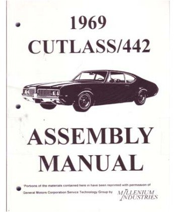 1969 OLDSMOBILE CUTLASS Assembly Manual Rebuild (Oldsmobile Cutlass Supreme Manual)