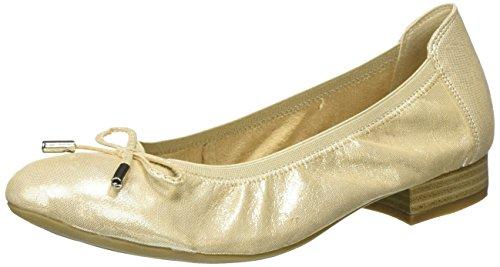 Glitter Caprice para Beige Mujer Bailarinas 22166 Beige nrBWzwqYrE